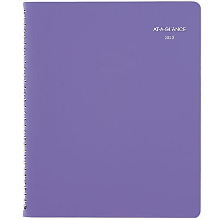 """AT-A-GLANCE® 13-Month Beautiful Day Weekly/Monthly Planner, 8-1/2"""" x 11"""", Lavender, January 2022 To January 2023, 938P-905"""