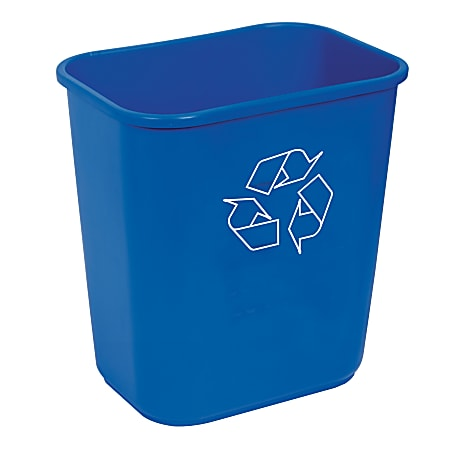 Highmark™ Recycling Bin, 3.25 Gallons, Blue