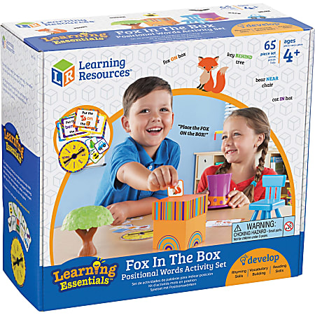 Learning Resources Fox In The Box Word Activity Set - Theme/Subject: Learning - Skill Learning: Visual, Tactile Discrimination, Auditory, Fine Motor, Direction, Language Development - 3+ - 1 Each