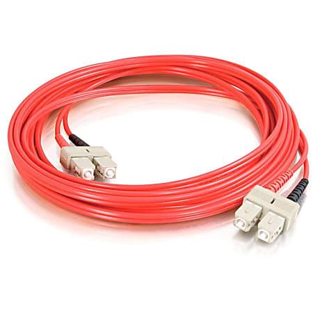 C2G-2m SC-SC 62.5/125 OM1 Duplex Multimode PVC Fiber Optic Cable - Red