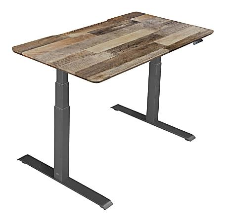 "Vari Electric Standing Desk, 60"", Reclaimed Wood"