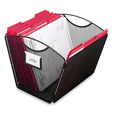 Safco® Mesh Desktop Tub File, Letter Size, Black