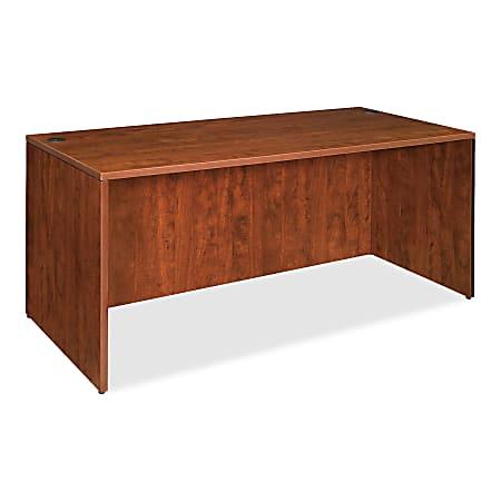 """Lorell® Essentials Series Rectangular Shell Desk, 60""""W x 30""""D, Cherry"""