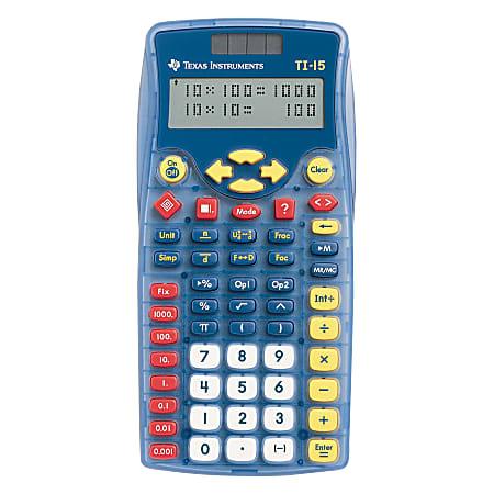 Texas Instruments® TI-15 Calculator, Blue