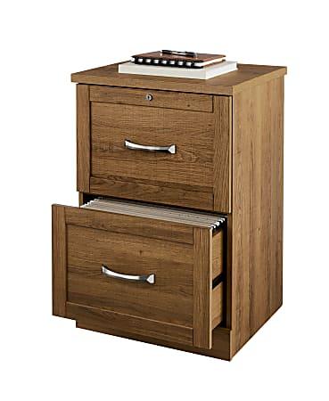 "Realspace® Premium 17""D Vertical 2-Drawer File Cabinet, Golden Oak"