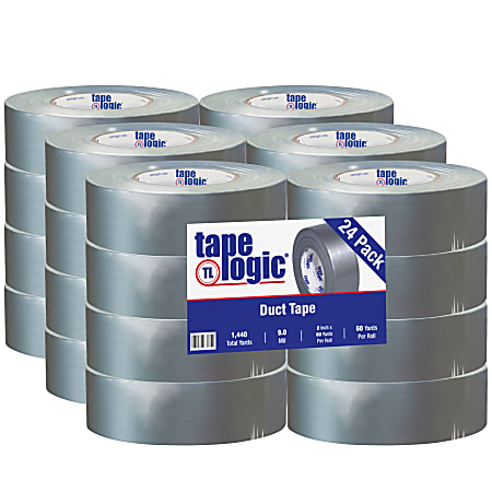 """Tape Logic® 9 Mil Duct Tape 2"""" x 60 yds. Silver (Pack of 24)"""