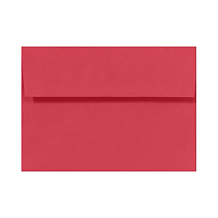 "LUX Invitation Envelopes With Moisture Closure, A7, 5 1/4"" x 7 1/4"", Holiday Red, Pack Of 500"