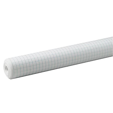 """Pacon® Grid Paper Roll, 1/2"""" Quadrille Ruled, 34"""" x 200', White"""