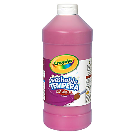 Crayola Washable Tempera Paint - 1 quart - 1 Each - Magenta