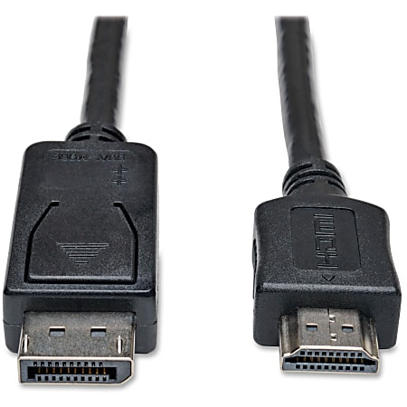 Tripp Lite 6ft DisplayPort to HDMI Adapter Cable Video / Audio Cable DP M/M - Male DisplayPort - Type A Male HDMI - 6ft - Black