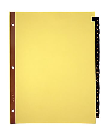 Office Depot® Brand Preprinted Tab Dividers, A-Z Tab