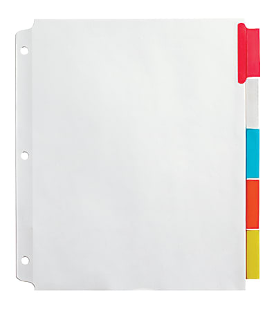 Office Depot® Brand Insertable Extra-Wide Dividers With Big Tabs, Assorted Colors, 5-Tab