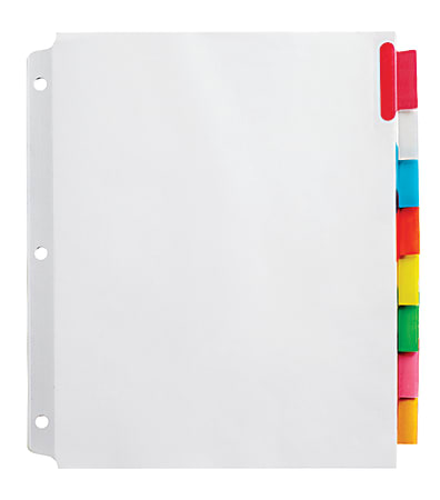 Office Depot® Brand Insertable Extra-Wide Dividers With Big Tabs, Assorted Colors, 8-Tab