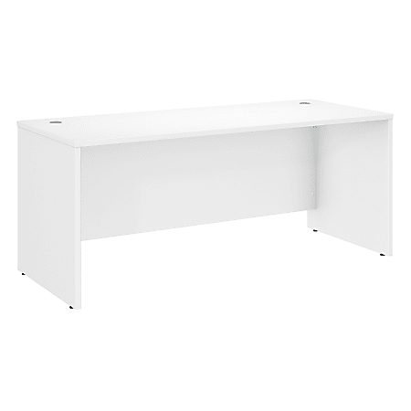 "Bush Business Furniture Studio C Office Desk, 72""W x 30""D , White, Standard Delivery"