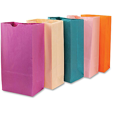 """Hygloss Bright Color Bagz - Craft Project, Decoration - 50 Piece(s) - 11"""" x 6"""" x 2.50"""" - 50 / Pack - Assorted - Paper"""