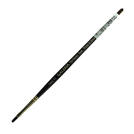 "Winsor & Newton Galeria Short-Handle Paint Brush, 1/8"", One-Stroke Bristle, Polyester, Burgundy"