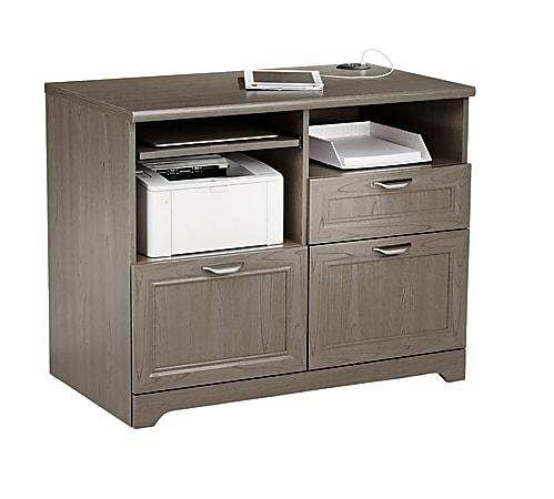 "Realspace® Magellan 36""W Tech Station Printer Stand 2.0, Gray"