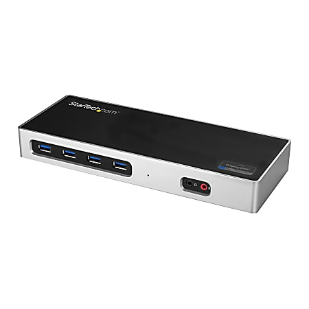 StarTech.com USB-C / USB 3.0 Docking Station - Compatible with Windows / macOS - Supports 4K Ultra HD Dual Monitors - USB-C - Six USB Type-A Ports - DK30A2DH - Dual Monitor Docking Station - HDMI and DisplayPort Ports - DisplayLink Technology