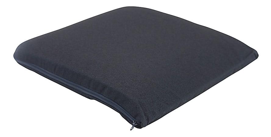 "Master Memory-Foam Seat Cushion, 17""H x 17 1/2""W x 2 3/4""D, Black"
