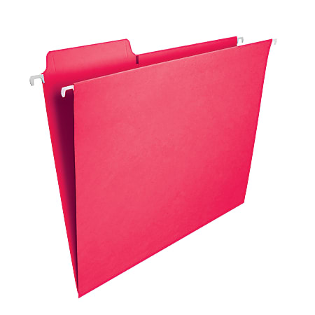 Smead® FasTab® Hanging File Folders, Letter Size, Red, Box Of 20