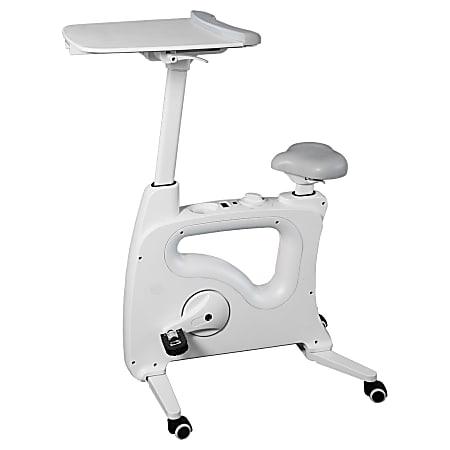Flexispot V9 Desk Exercise Bike With Notebook Tray, White