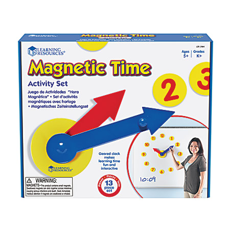 Learning Resources® Magnetic Time Activity Set, Grades Pre-K - 8