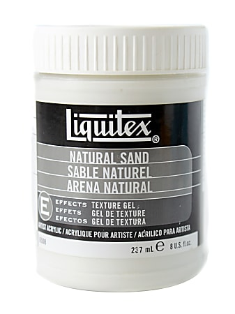 Liquitex Acrylic Texture Gel Mediums, 8 Oz, Natural Sand, Pack Of 2