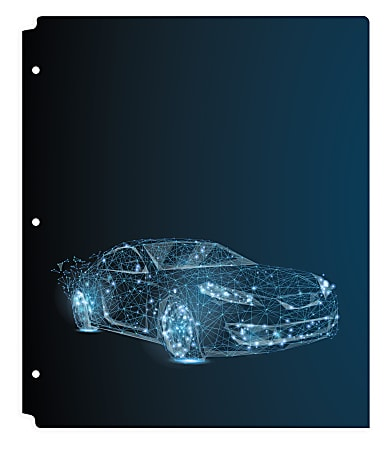 "Office Depot® Brand Fashion 2-Pocket Poly Folder, 8-1/2"" x 11"", Car"