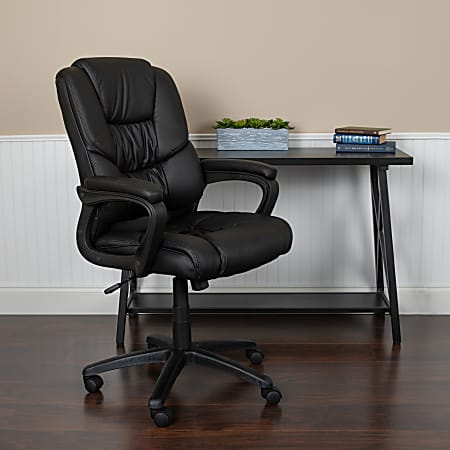 Flash Furniture Flash Fundamentals Big And Tall LeatherSoft Office Chair, Black
