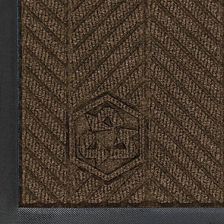 WaterHog Floor Mat, Eco Elite, 4' x 10', Chestnut Brown