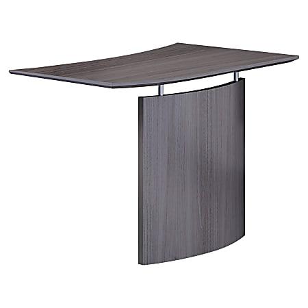 "Mayline Left Hand Bridge - 24"" x 48"" x 29.5"" , 1"" Work Surface - Beveled Edge - Material: Steel, Polyvinyl Chloride (PVC) Edge - Finish: Gray, Laminate, Silver"