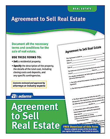 Adams® Agreement To Sell Real Estate
