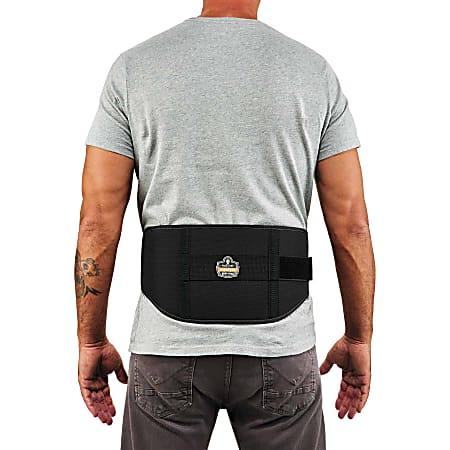 Ergodyne ProFlex 1500 Weight Lifters-Style Back Support Brace, Large, Black