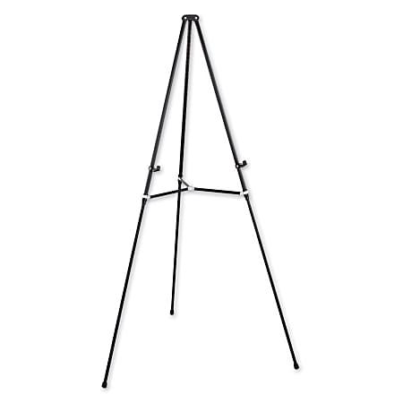 Quartet® Lightweight Telescoping Easel, Black Aluminum