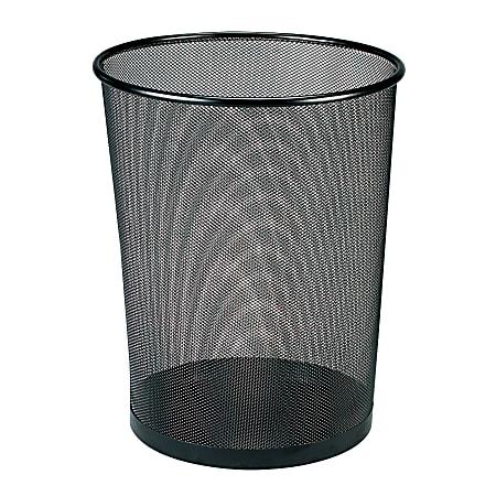 Brenton Studio® Black Mesh Wastebasket