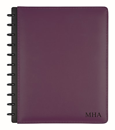 """TUL™ Personalized Custom Note-Taking System Discbound Letter-Size Notebook, 8 1/2"""" x 11"""", Purple"""