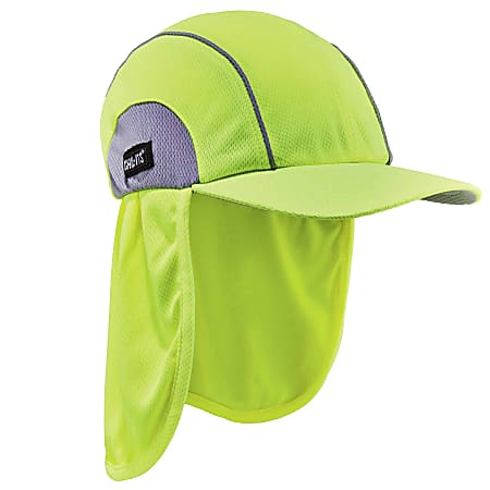 Ergodyne Chill-Its 6650 High-Performance Hat With Neck Shade, One Size, Lime