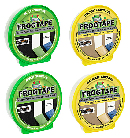 Duck® Brand FrogTape Multi-Surface And Delicate Surface Painter's Tape Rolls, Pack Of 4 Rolls