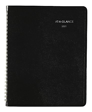 "AT-A-GLANCE® DayMinder Block-Style Weekly Planner, 7"" x 8-3/4"", Black, January to December 2021, G53500"