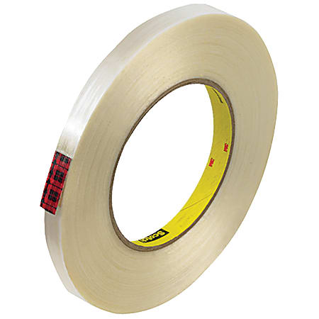 """Scotch® 890MSR Strapping Tape, 3"""" Core, 0.5"""" x 60 Yd., Clear, Case Of 72"""