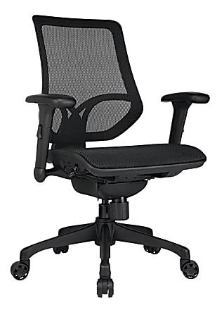 WorkPro® 1000 Series Ergonomic Mesh/Mesh Mid-Back Task Chair, Black/Black