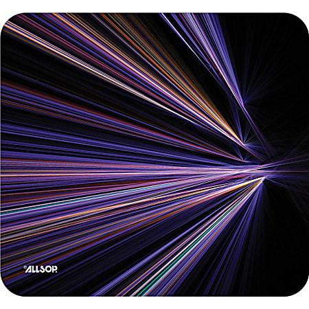 "Allsop NatureSmart Image Mousepad - Tech Purple Stripes - (30600) - Tech Purple Stripes - 0.10"" x 8.50"" Dimension - Natural Rubber, Latex - Anti-skid"