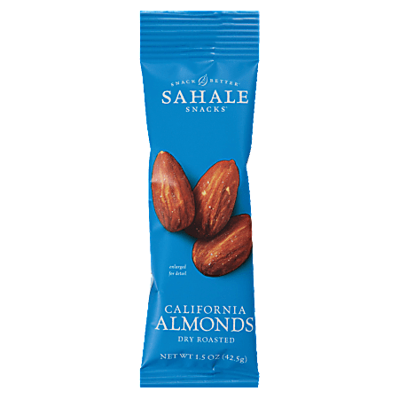 Sahale Snack Better Dry-Roasted California Almonds Snack Mix, 1.5 Oz, Pack Of 18