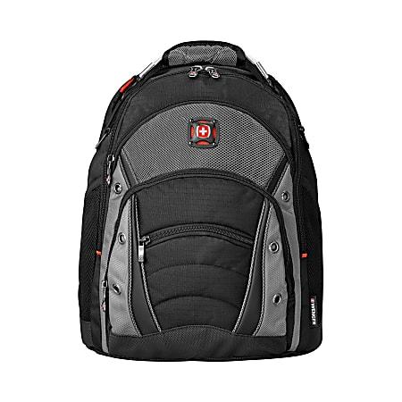 Wenger® Synergy Laptop Backpack, Black/Gray