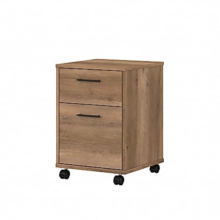 """Bush Furniture Key West 16""""D Vertical 2-Drawer Mobile File Cabinet, Reclaimed Pine, Standard Delivery"""