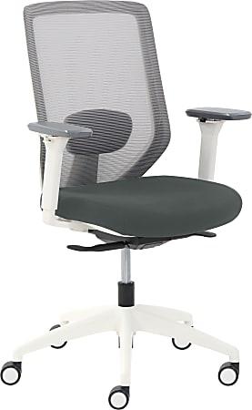 True Commercial Phoenix Mesh/Fabric Mid-Back Task Chair, Dark Gray/Off-White