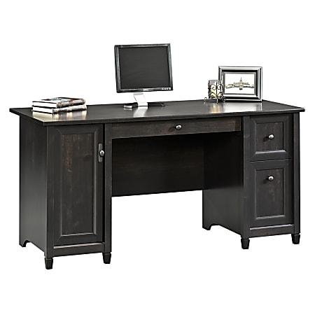 """Sauder® Edge Water 59""""W Computer Desk, Estate Black"""