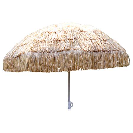 """Amscan Summer Luau Tiki Umbrella, 75""""H x 59""""W x 59""""D, Brown"""
