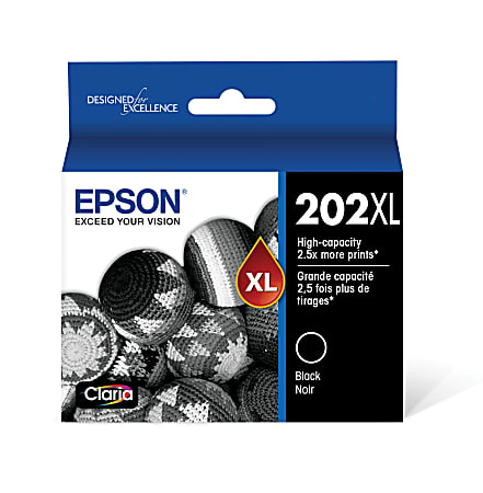 Epson® 202XL Claria® High-Yield Black Ink Cartridge, T202XL120-S