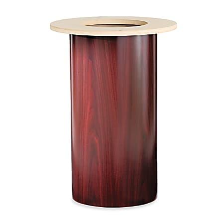 HON® Preside™ Cylinder Table Base, Mahogany